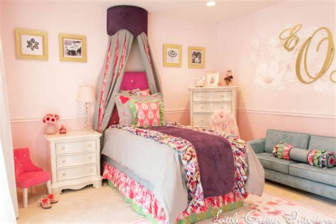 blue and pink girls bedroom girls bedroom in pink and green interiors by color
