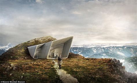 messner mountain museum opens atop mount kronplatz in italy daily mail online