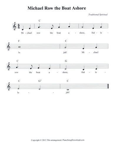 is michael row the boat ashore a christian song 64 best images about piano lead sheets on pinterest