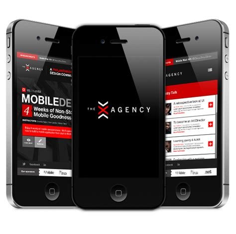 eb mobile site x agency mobile site on behance