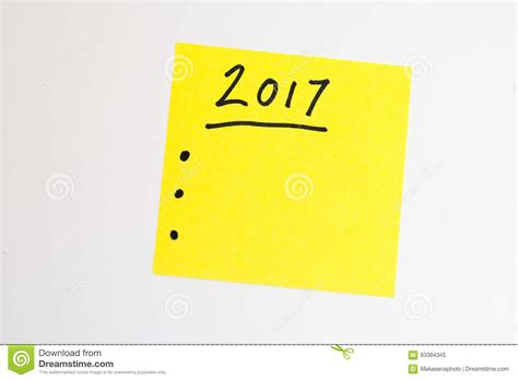 new year and yellow to do list for the new year in yellow stock photo image