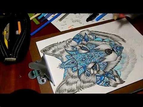 desenhando lobo releitura de lobo mandala speed drawing