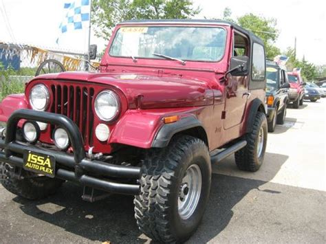 Jeep Cj7 Wheels And Tires Purchase Used 1985 Jeep Cj7 With A Brand New Engine And A