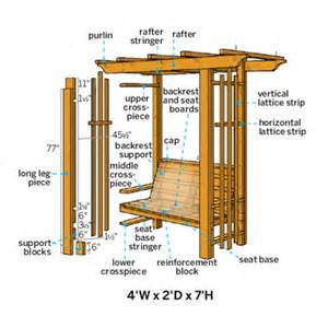arbor bench plans pdf diy garden bench arbor plans download greenhouse