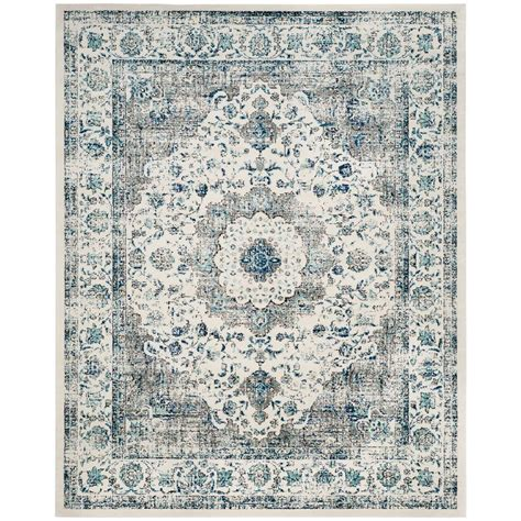 10 X 12 Area Rugs Blue Teal Gray Ivory - safavieh evoke gray ivory 8 ft x 10 ft area rug evk220d