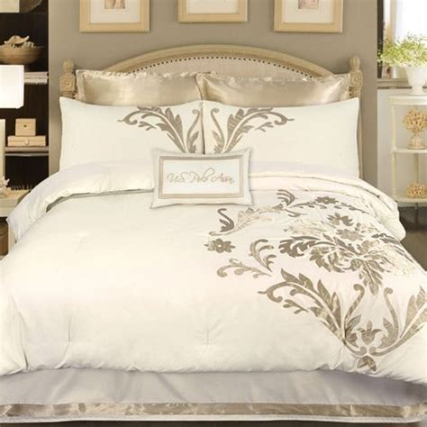 Gold And White Comforter by A Stylish Gold And White Modern Bedding Collection With A