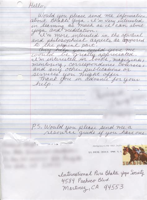 Letters From Inmates