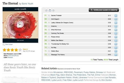 ui pattern list 48 great ways to design lists in web design at emusic 2