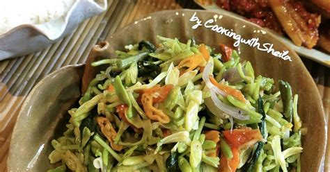 resep bunga pepaya manado enak  sederhana cookpad
