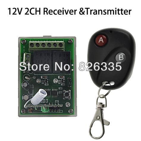 1 Receiver 10 Transmitter 3 Button home automation 12v 2ch rf wireless remote switch