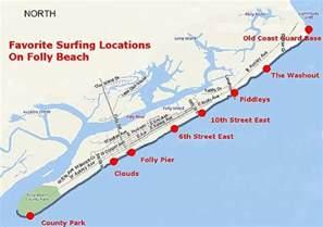 map of carolina coast beaches folly usa top spots for surfing