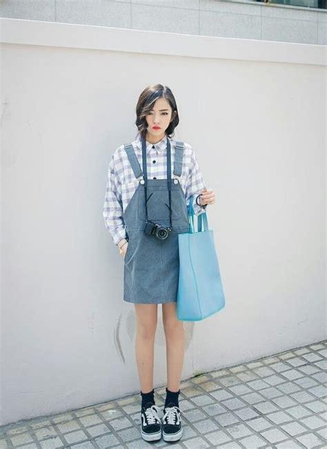 overall korea dungaree dress ulzzang and style on