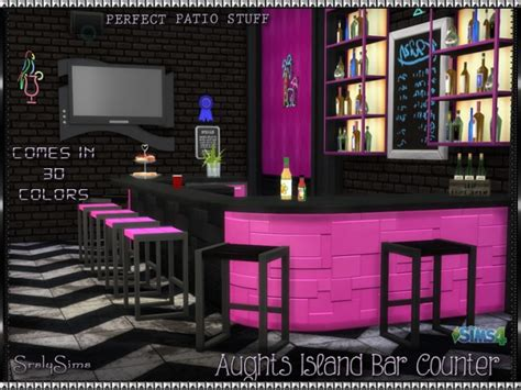 aughts island �bar� counter at srslysims 187 sims 4 updates