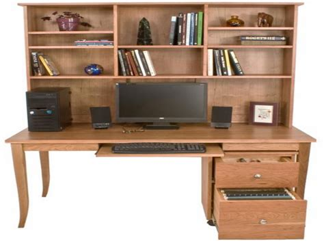 computer desk with bookshelf build wooden desk bookcase plans plans download dewalt