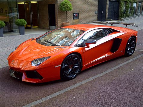 Lamborghini Aventador In Orange Luxury Cars Lamborghini Aventador Lp 760 4 Orange