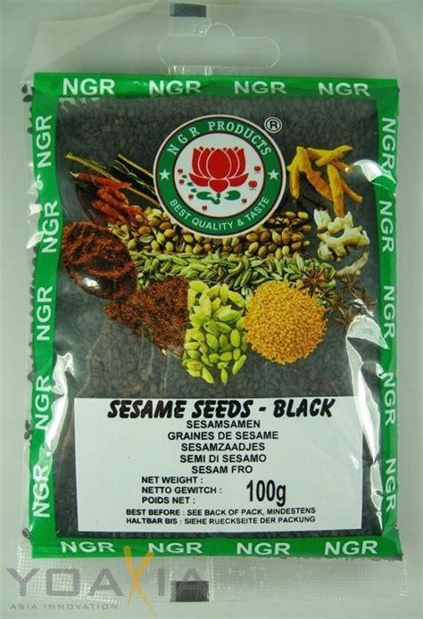 Black Sesame Seed 100gr 100g ngr sesamsamen schwarz sesam black sesame