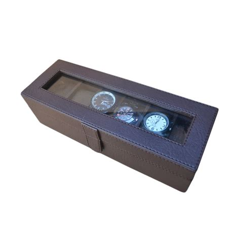 Kotak Jam Box Jam Tempat Jam Mountblank Dan Guess jual jogja craft bj06rdcro box organizer kotak tempat jam tangan isi 6 coklat