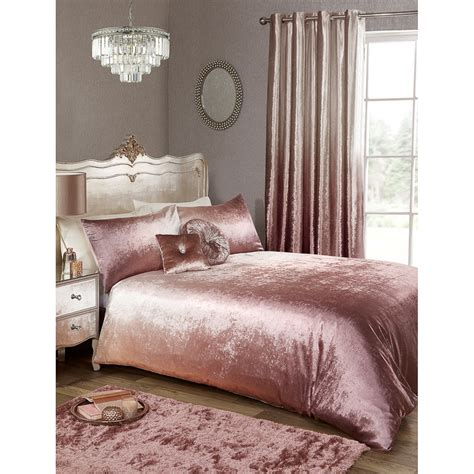 karina bailey ombre velvet double duvet set blush bedding bm