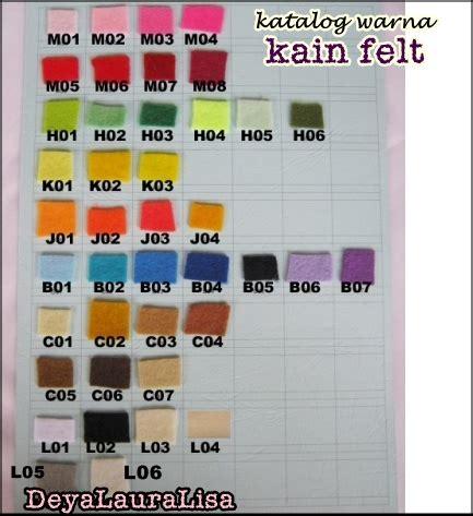 Aksesori Flanel 2 kain felt dan aksesori craft