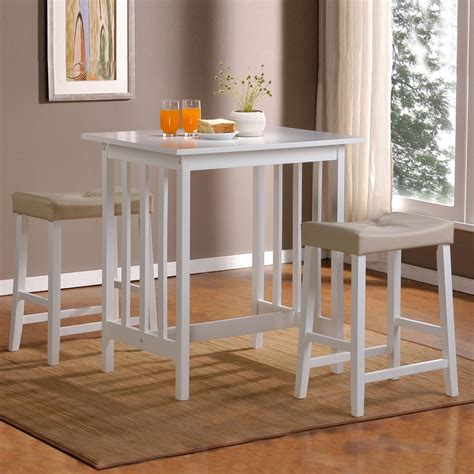 Shop Home Sonata White 3 Piece Dining Set with Counter Height Table at Lowes.com