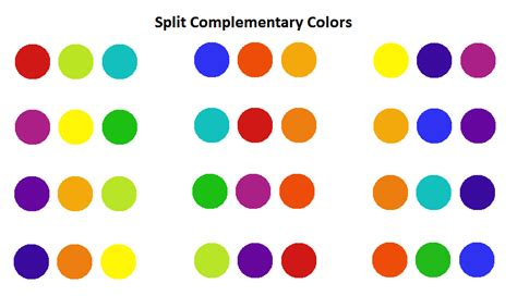 complementary colors list amazing color wheel split complementary split complementary color sets art lessons pinterest
