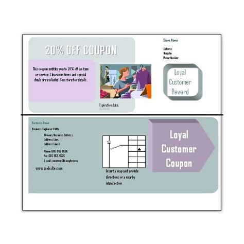 business coupon template free blank coupon templates for in microsoft