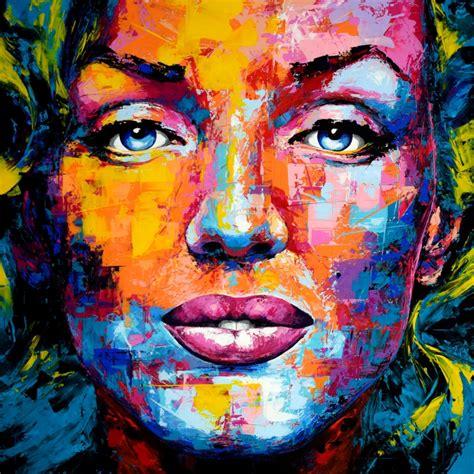 portrait auf leinwand kunstwerk original gem 228 lde marilyn leinwand acryl