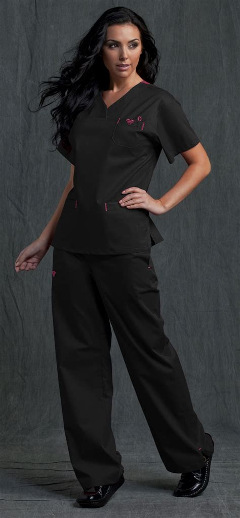 Black Scrub scrubs black scrubs nursing scrubs of and color combos