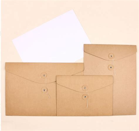 How To Make An A5 Envelope Out Of A4 Paper - a4 a5 kraft paper envelope for invication card thick paper