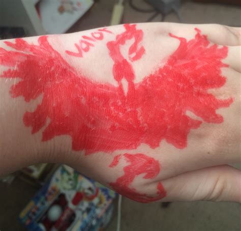 valor tattoo go team valor by wolfwarning on deviantart