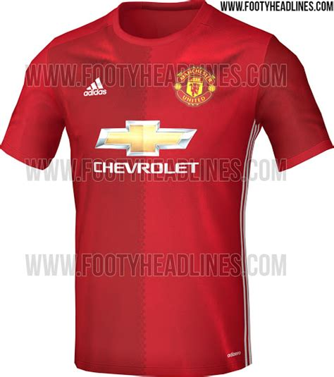 Jersey Manchester United Home manchester united home jersey for 2016 17 season leaked