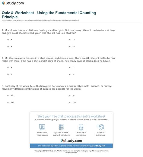 The Fundamental Counting Principle Worksheet fundamental counting principle worksheet photos getadating