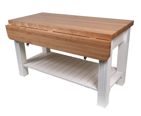 butcher block kitchen island table in