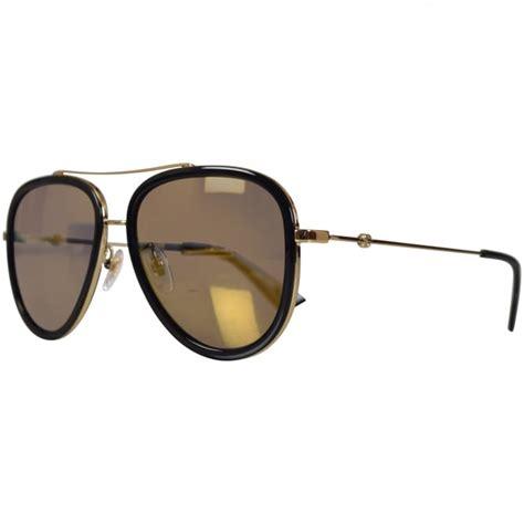 gucci sunglasses gucci gold black frame sunglasses