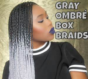 black to grey ombre box braids hairstyles gray ombre box braids maintenence tips youtube