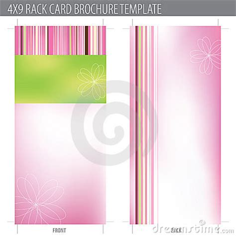 4 x 9 vertical rack cards templates 4x9 rack card brochure template stock images image 10324464