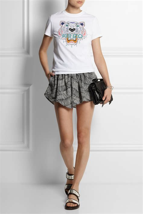 Tshirt Tiger Wood White lyst kenzo tiger cotton jersey t shirt in white