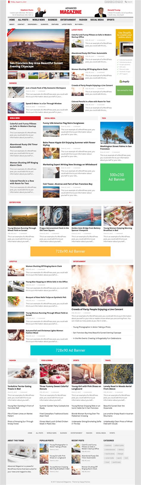 advanced layout wordpress advanced magazine wordpress theme for publishing news