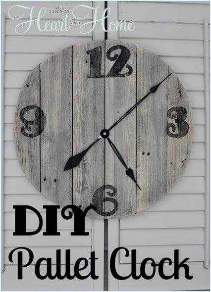 diy clock projects diy pallet clock all things and home