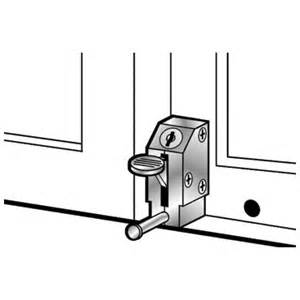 Keyed Patio Door Lock Outside Window Sliding Door Hardware