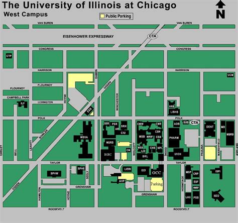 uic map uic west cus map map of uic west cus united states of america