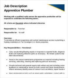 Plumbing Description by Plumber Description 9 Free Pdf Format Free Premium Templates
