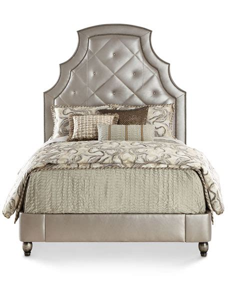 Black Quilted Bed Frame Hickory Tannery Quilted Leather Bed