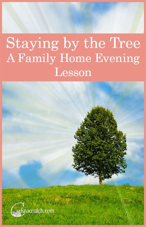 learning how to stay by the tree a family home evening