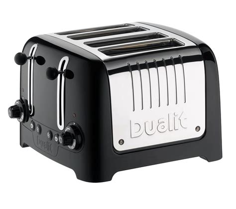 Dualit Toaster 4 Buy Dualit Dl4b 4 Slice Toaster Black Free Delivery