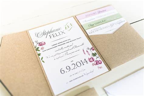 Hochzeitseinladung Pocket boho style papeterie pocket einladung anmut und