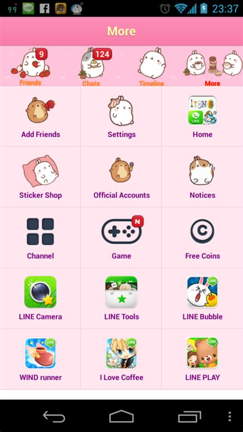 theme line lucu la font and theme shop juli 2013