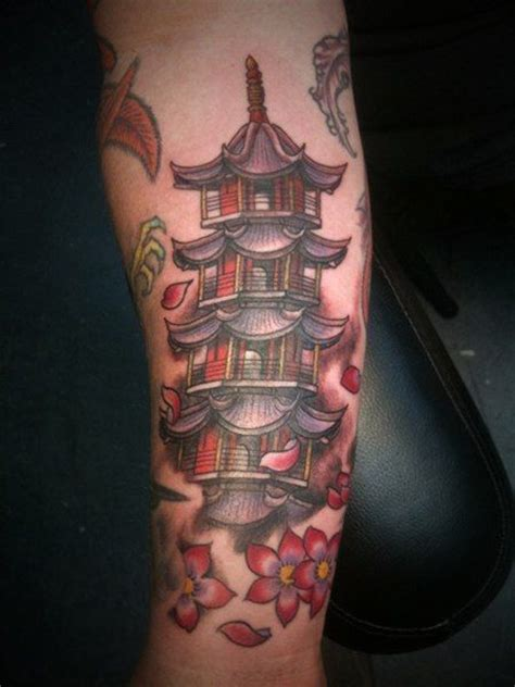japanese temple tattoo designs japanese pagoda designs pagoda by a ok