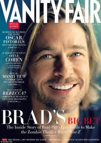 brad pitt smiles serenely on new vanity fair cover despite