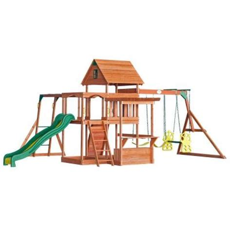 backyard discovery monticello all cedar playset
